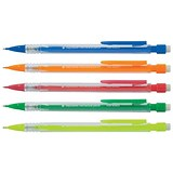 5 Star Disposable Mechanical Pencil / Retractable / Assorted Barrels / Pack of 10
