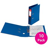 5 Star A4 Lever Arch Files / Plastic / Navy Blue / Pack of 10