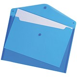 Image of 5 Star A4 Envelope Wallets / Blue / Pack of 5