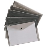 Image of 5 Star A4 Envelope Wallets / Smoke / Pack of 5