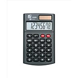 Image of 5 Star Handheld Calculator - 8 Digit Display / 3 Key Memory / Solar & Battery-power