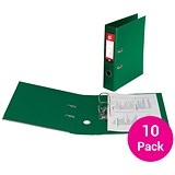 Image of 5 Star Foolscap Lever Arch Files / Plastic / 75mm Spine / Green / Pack of 10