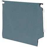 Image of 5 Star Manilla Heavyweight Lateral Files with Clear Tabs & Inserts / 330mm Width / Green / Pack of 50