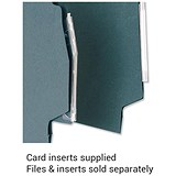 5 Star Lateral Files Card Inserts / White / Pack of 50