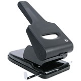Image of 5 Star Heavy-duty 2-Hole Punch / Black and Grey / Punch capacity: 65 Sheets