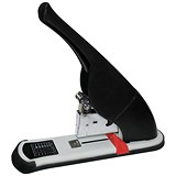 Image of 5 Star Heavy Duty Office Lever Arm Stapler / All Steel / Capacity: 240 Sheets / Black