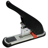 Image of 5 Star Heavy Duty Lever Arm Stapler / All Steel / Capacity: 100 Sheets / Black