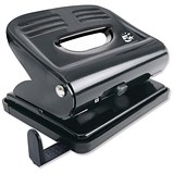 5 Star 2-Hole Punch / Black / Punch capacity: 18 Sheets