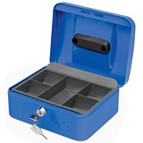 Image of 5 Star Cash Box - 8 Inch - Blue