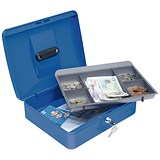 5 Star Cash Box - 12 Inch - Blue