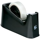 5 Star Desktop Tape Dispenser with Weighted Base / Non-slip / 25mm Width Capacity / Black