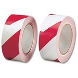 Image of Hazard Tape Soft PVC Internal Use 50mmx33m Red and White