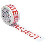 "Image of Printed Tape ""Reject"" Polypropylene / 50mmx66m / Red on White / Pack of 6"