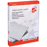 Image of 5 Star A3 Value Multifunctional Paper / White / 75gsm / Ream (500 Sheets)