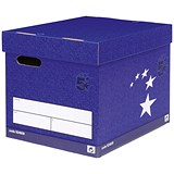 Image of 5 Star Superstrong Archive Storage Boxes / Foolscap / Blue / Pack of 10