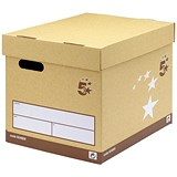 Image of 5 Star Superstrong Archive Storage Boxes / Foolscap / Sand / Pack of 10