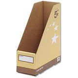 5 Star Recycled Magazine File / Quick-assembly / Recycled / A4+ / Sand / Pack of 10