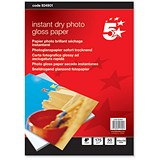Image of 5 Star Inkjet Photo Gloss Fast Drying Photo Paper / 100 x 150mm / White / 175gsm / Pack of 50 Sheets