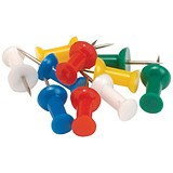5 Star Push Pins / Assorted Opaque Colours / Pack of 100