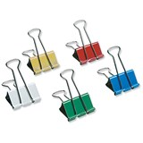 Image of 5 Star Foldback Clips - 41mm / Assorted Colours / Pack of 12