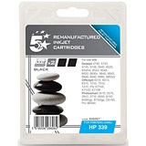 Image of 5 Star Compatible - Alternative to HP339 Black Ink Cartridges (Twin Pack)