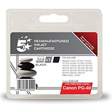 Image of 5 Star Compatible - Alternative to Canon PG-40 Black Inkjet Cartridge