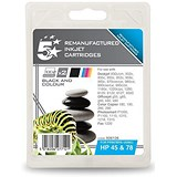 5 Star Compatible - Alternative to HP 45/78 Black and Colour Inkjet Cartridges (Twin Pack)