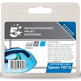 Image of 5 Star Compatible - Alternative to Epson T0712 Cyan Inkjet Cartridge