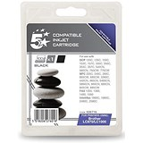 Image of 5 Star Compatible - Alternative to Brother LC1000BK Black Inkjet Cartridge