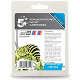 5 Star Compatible - Alternative to HP 343 Colour Ink Cartridges (Twin Pack)