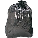 5 Star Recycled Refuse Sacks / 70 Gauge / 110 Litre / 450x280x950mm / Black / Box of 200