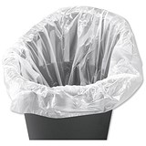 Image of 5 Star Swing Bin Liners / 40 Litre / White / Pack of 1000