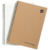 Image of 5 Star Hard Cover Wirebound Notebook / A4 / Recycled / 160 Pages / Pack of 5