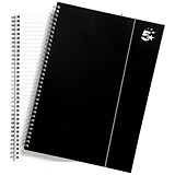 Image of 5 Star Wirebound Polypropylene Notebook / A4 / Elasticated / 160 Pages / Pack of 6