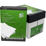 Image of 5 Star A4 Recycled Copier Paper / White / 80gsm / Box (5 x 500 Sheets)