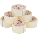 Image of 5 Star Packaging Tape Roll / Low Noise / Polypropylene / 50mmx66m / Clear / Pack of 6
