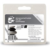 Image of 5 Star Compatible - Alternative to Lexmark No. 34 Black Inkjet Cartridge