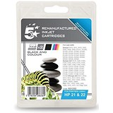 Image of 5 Star Compatible - Alternative to HP 21/22 Black and Colour Inkjet Cartridges (Twin Pack)