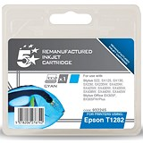 Image of 5 Star Compatible - Alternative to Epson T1282 Cyan Inkjet Cartridge