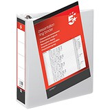 Image of 5 Star Presentation Ring Binder / 4 D-Ring / 65mm Spine / 50mm Capacity / A4 / White / Pack of 10
