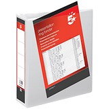 Image of 5 Star Presentation Ring Binder / 2 D-Ring / 80mm Spine / 65mm Capacity / A4/ White / Pack of 10