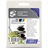 5 Star Compatible - Alternative to Brother LC1100 Inkjet Cartridge Value Pack - Black, Cyan, Magenta and Yellow (4 Cartridges)