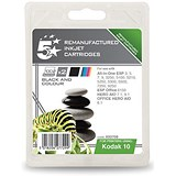 5 Star Compatible - Alternative to Kodak 10B/10C Black and Colour Inkjet Cartridges (Twin Pack)