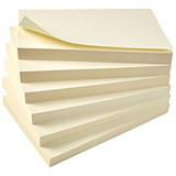 5 Star Eco Recycled Sticky Notes / 76x127mm / Yellow / Pack of 12 x 100 Notes