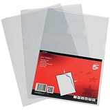 Image of 5 Star Cut Flush Folders / PVC / A4 / Clear / Pack of 50