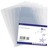 Image of 5 Star Cut Flush Folders / PVC / A4 / Clear / Pack of 100