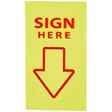 "5 Star ""Sign Here"" Index Flags Tab With Red Arrow - 10 Wallets of 50 Flags Each"