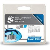 Image of 5 Star Compatible - Alternative to Epson T1802 Cyan Inkjet Cartridge