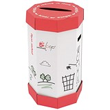 5 Star Remarkable Loop Paper Recycling Waste Bin / 60 Litres / Pack of 5