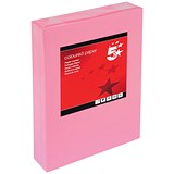 Image of 5 Star A4 Multifunctional Coloured Paper / Medium Pink / 80gsm / Ream (500 Sheets)